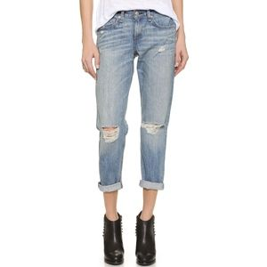 rag & bone Distressed Denim Boyfriend Jeans 27